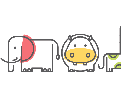 Illustration for birthday party illustration animals