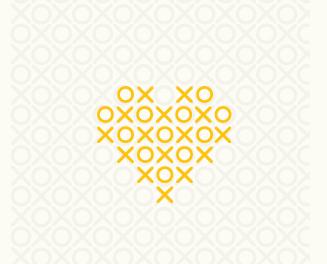 XO Heart illustration logo
