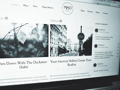 Miao - Fashion Blog & Magazine WordPress Theme elegant wp magazine blogging theme wordpress