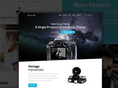 Focux - Single Product WooCommerce WordPress Theme web design ecommerce theme woocommerce wordpress