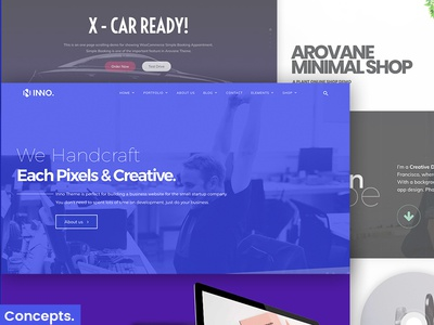 Inno Creative WordPress Theme one page shop portfolio business themes wordpress