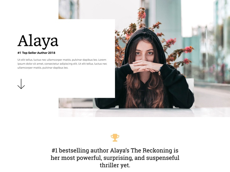 An E-Book Author Page Template Design web design agency web design