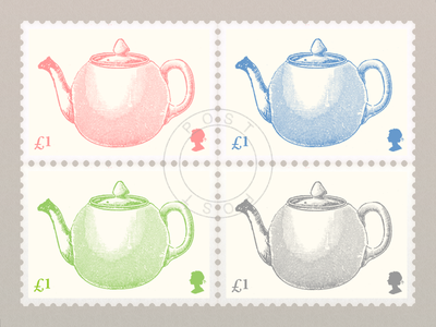 Teapot Stamp stamp