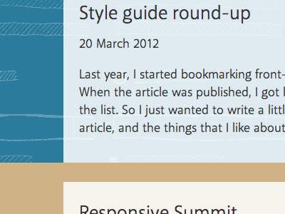 Blog post listing
