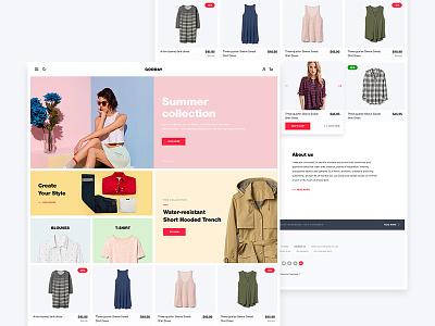 Gooday web wear store shop prestashop fashion ecommerce design clothes