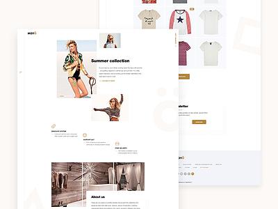 Moyo Prew web wear store shop prestashop fashion ecommerce design clothes