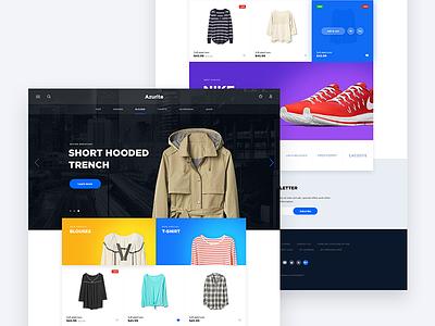 Azurite web wear store shop prestashop fashion ecommerce design clothes