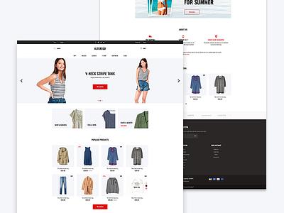 Alterego women web wear ui template prestashop home fashion design clothes