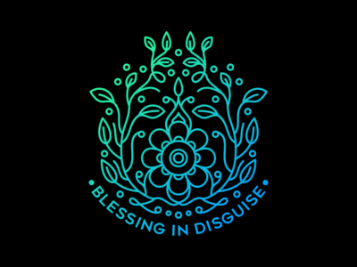 Blessing in Disguise tree nature typography lettering pattern floral quotes flower line lineart outline monoline