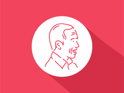 Jokowi Avatar ux design ui design icon flat design flat head face man profile jakarta indonesia jokowi president character avatar tattoo line art line outline monoline