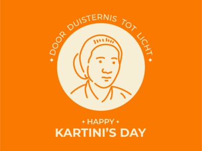 Kartini s Day face linework ux design ui design icon flat design girl woman mascot head character kartini heroe heroes indonesia avatar line art line outline monoline