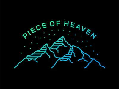 Piece of Heaven trip vacation holiday stars sky summer heaven tattoo hiking camping wilderness wanderlust adventure mountain outdoor nature line art line outline monoline