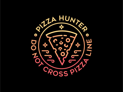 Pizza Line drink cafe healthy delicious restaurant hunter pepperoni bread fast food junk food italy italian burger pizza food tattoo line art line outline monoline