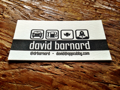 Reprint letterpress business card