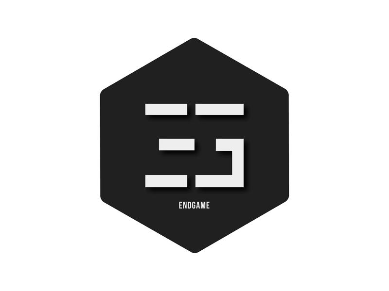 Endgame concept logo vector design logo