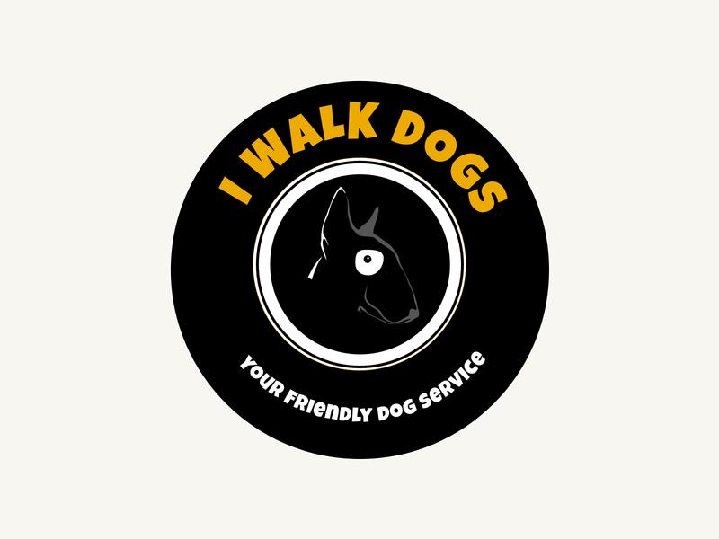 I walk dogs logo illustrator vector design logodesign logo