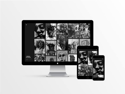 Paintings & Drawings Home Page design ui webdesign