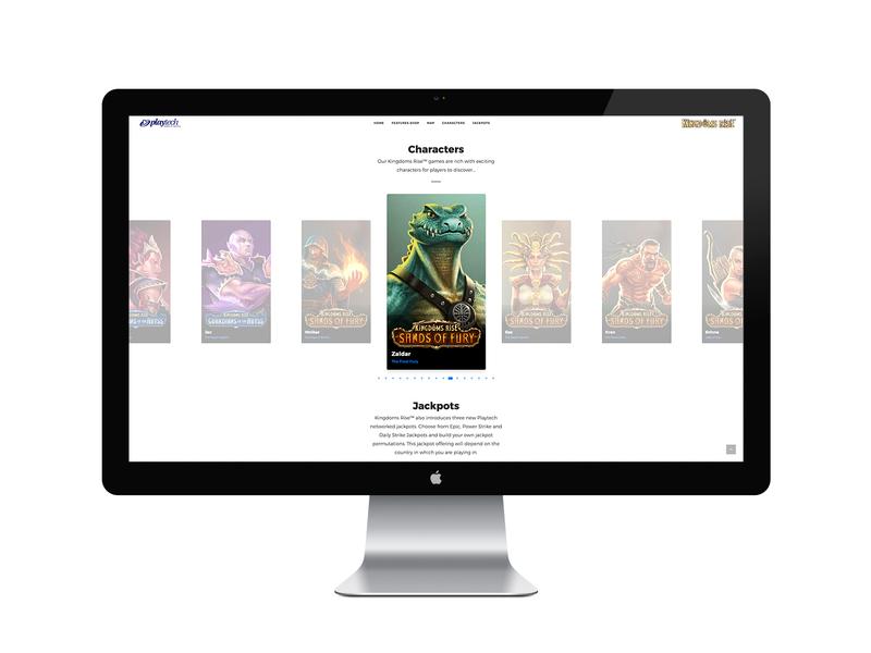Kingdoms Rise landing page landing page design landing page web design ux design webdesign uidesign