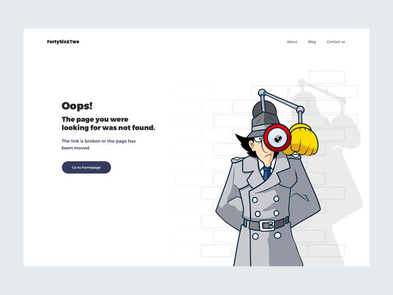 Page Not Found: Web Design illustrator ui design 404 page web design page not found
