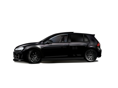 VW Golf R black car vector illustrator iillustration