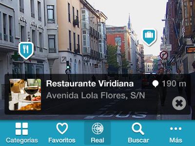 Benahavis App AR iphone app layout interface ar