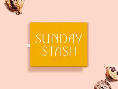 SundayStash baking cookies customtype illustration packaging logo branding