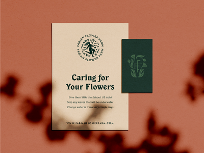 FFF Stationery female florist garden washington state floral flower farm identity illustration branding logo