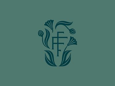 FFF Submark monogram natural florist floral washington state flower farm icon identity illustration branding logo
