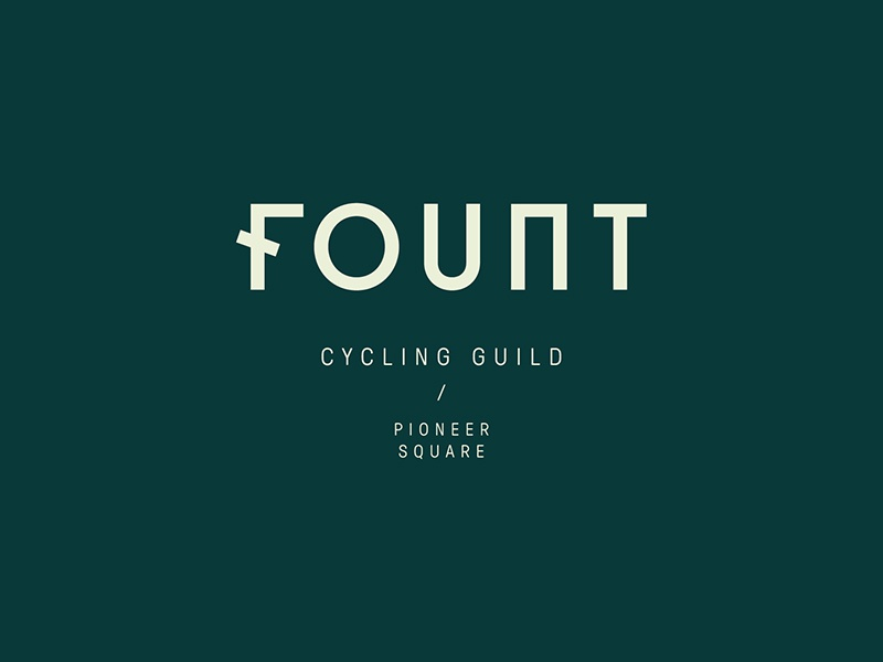 Fount Logo cycling pioneer square seattle logo identity brand