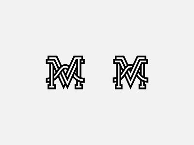 Mv Monogram typography v m monogram branding design logo