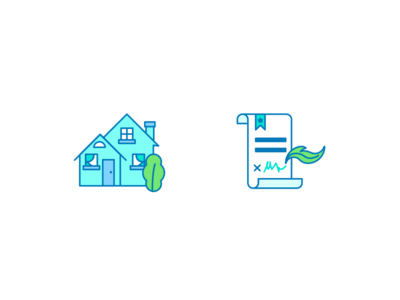 Home and Loan Icons icon set line colorful lending mortgage housing purchase home loan icon