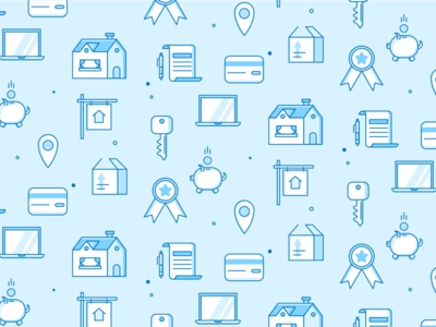 Mortgage icon pattern pattern marketing line icons home loan home lending save moving icon set icon pattern