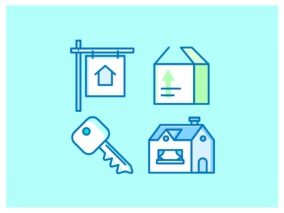 Move Icons moving box line email marketing welcome home keys moving icon set icon new home move