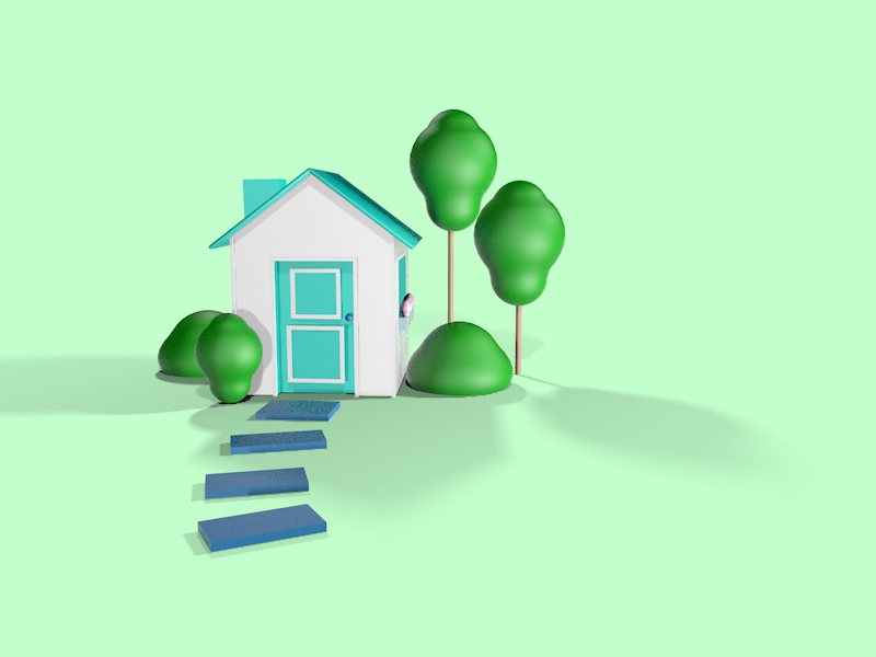 Home Sweet Home 3d art welcome home home cinema4d 3d hero image house c4d