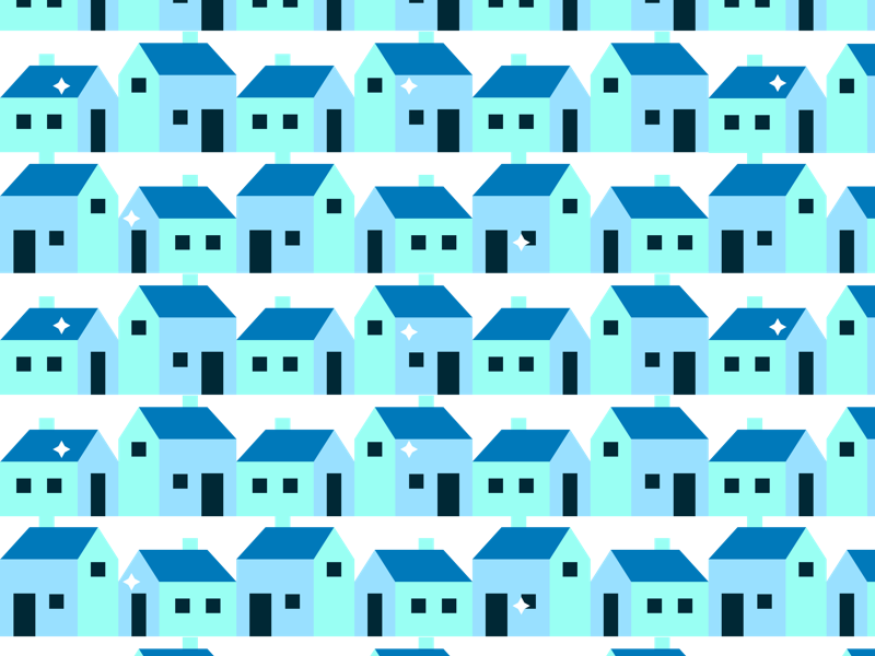 Simple Houses geometric shapes abstract neighborhood pattern icon home house