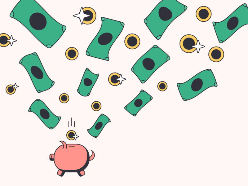 Save Money line illustration saving save money piggy bank
