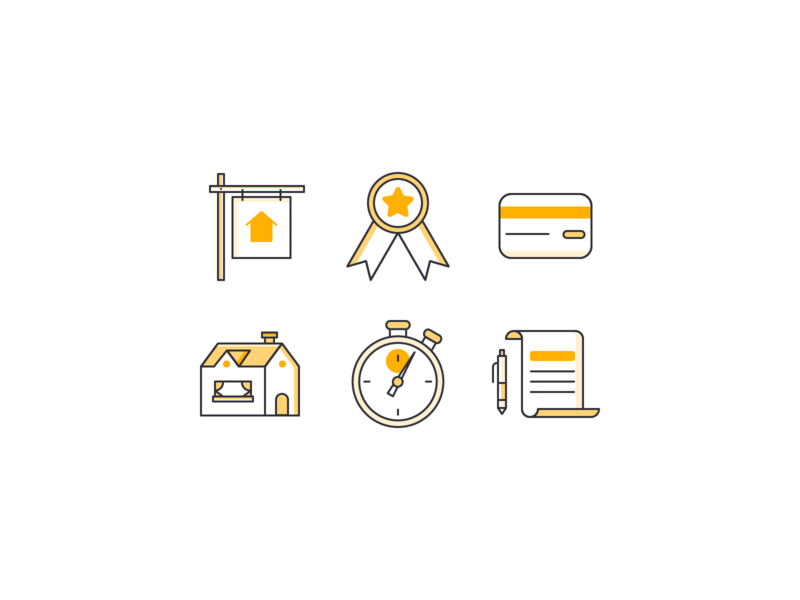 Email Icons icon set icon housing real estate loan mortgage finance iconography icons line