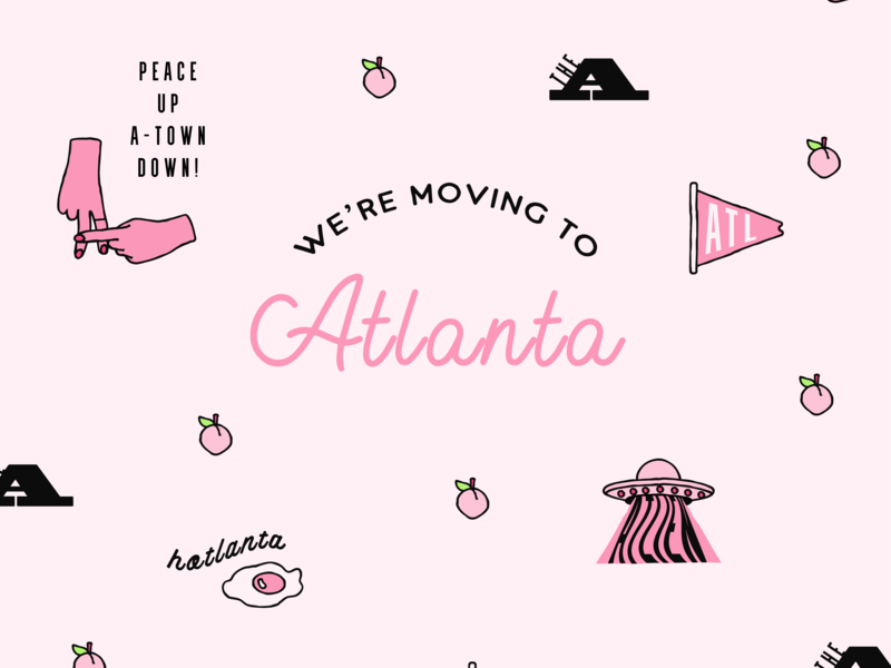 Moving to the ATL peach atl peace hands icons atlanta