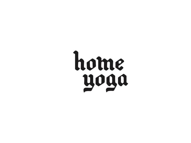 Home Yoga Logo logo wordmark identity design branding yoga