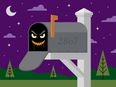 Mail's here! secondary monster night mailbox