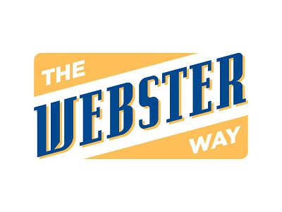 The Webster Way gold blue slanted