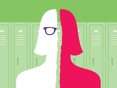 Glasses paper girl tear high school split glasses
