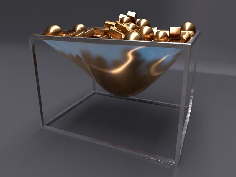Gold Basket 1/3 cg render artwork maxon3d renderzone digitalart gold redshift3d redshift cinema4d c4d 3d