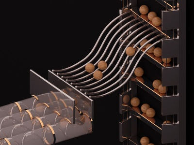 Where do these marbles go? wood render redshift motiongraphics maxon marbles gold cinema4d c4d artwork art 3d