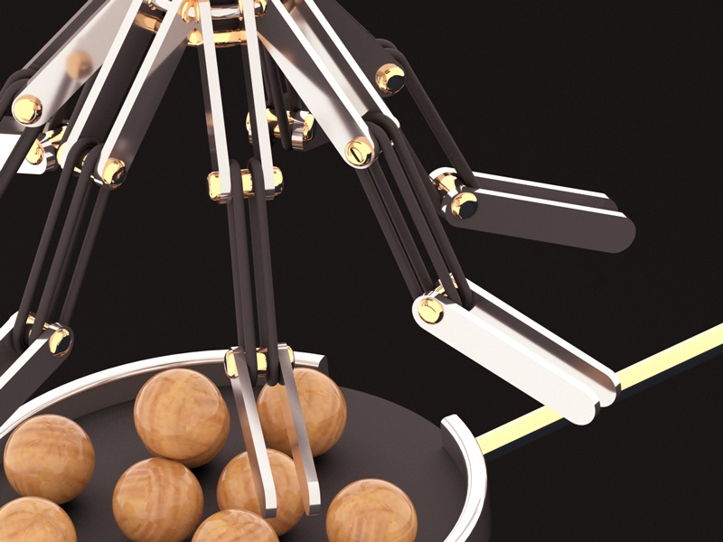 Project wood balls in the machine finished! wood render redshift motiongraphics maxon marbles gold cinema4d c4d artwork art 3d