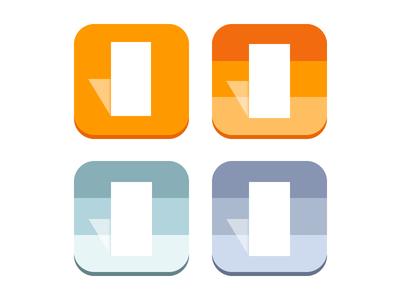 Logo WIP logo icon app gradient colorful bright orange j