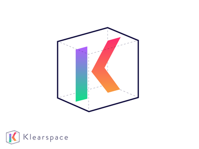 Klearspace Logomark typography vector illustration design branding logo