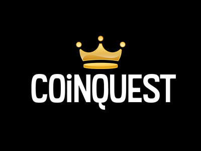 CoinQuest Logo gold crown crypto app logo icon
