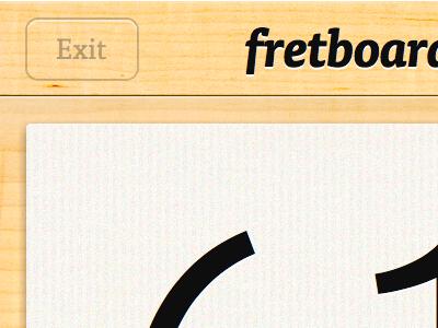 New Fretboard logo detail iphone app ios fretboard logo texture ff tisa