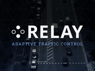 Relay Logo logo branding adaptive traffic control relay research project